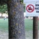 Divieto di raccolta tartufi nel parco giochi