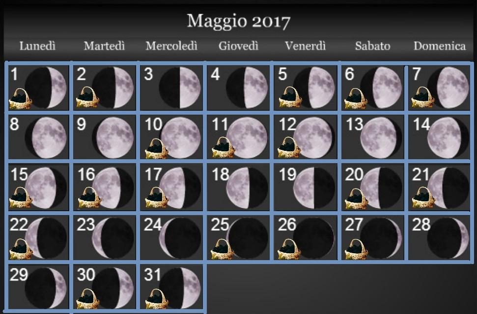 Calendario Lunare Maggio.Maggio 2017 Fasi Lunari Andare A Tartufi