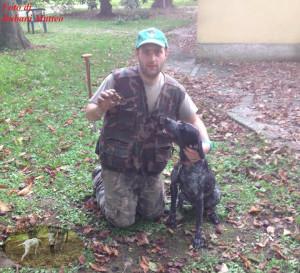 Foto di Bubani Matteo con il suo cane da tartufo