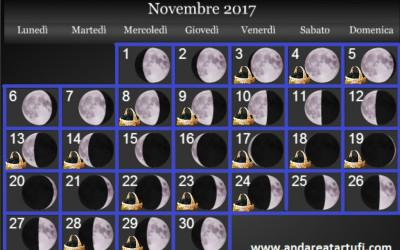 fasi lunari novembre 2017
