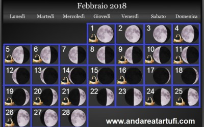 Fasi lunari Febbraio 2018
