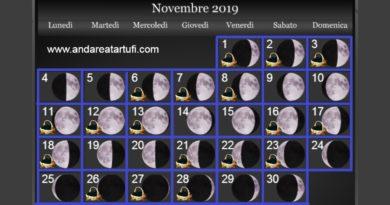 Fasi lunari novembre 2019