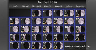 Fasi lunari Gennaio 2020