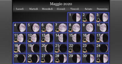Fasi lunari Maggio 2020