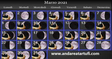 Fasi lunari Marzo 2021